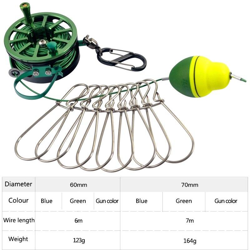 recomendar equipamento de pesca stringer pesca flutuadores carretel de pesca bloqueio fivela com carretel cordao