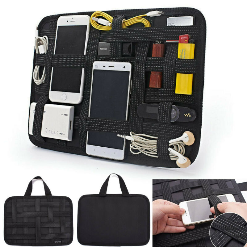 Electronic Accessories Capable Organizer Bag Travel USB Charger Phone Storage Case Storage Bag