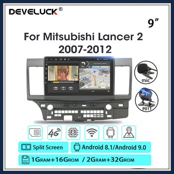 Android 9.0 2G+32G 2 Din Car Radio For Mitsubishi Lancer 2007-2012 4G NET+WiFi 10 RDS DSP Video Audio Multimedia Car Dvd Player vtopek 2din 2 32g 4g net wifi car multimedia player for mitsubishi lancer 2007 2012 navigation gps auto android radio 2 din dvd