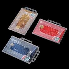 Cover Card-Sleeve Protector Case Badge Work ID Acrylic Hard-Plastic 1PC Multi-Use Unisex