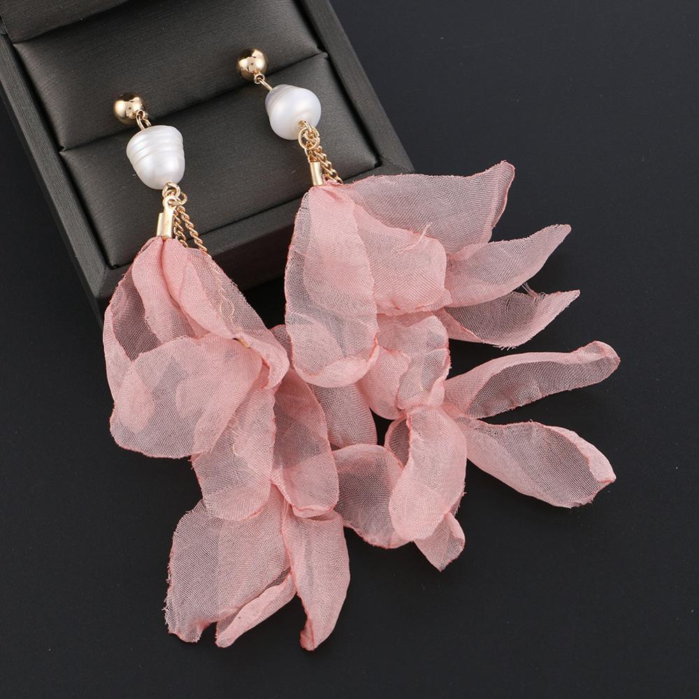 Super Sale #74fb ELEGANCE11 Luxury Yarn Flower Earrings