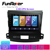 Funrover 2.5D+IPS android 9.0 Car Multimedia player Navigation dvd for Mitsubishi Outlander 2006 2014 Peugeot 4007/Citroen gps