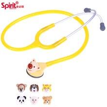 Duch 3D animowany zwierząt śliczne pediatryczny stetoskop zmienny pojedynczy klosz dzieci dziecko dzieci stetoskop wykonane na tajwanie