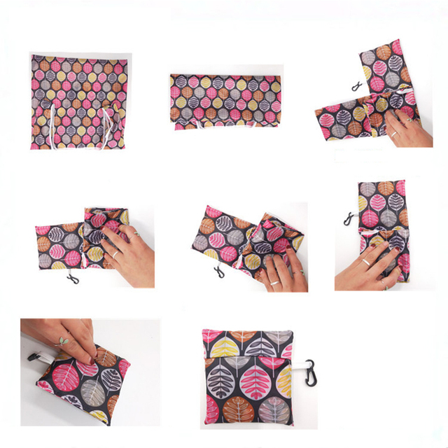GABWE New Flamingo Recycle Shopping Bag Eco Reusable Shopping Tote Bag Cartoon Floral Shoulder Folding Pouch Handbags Printing 4