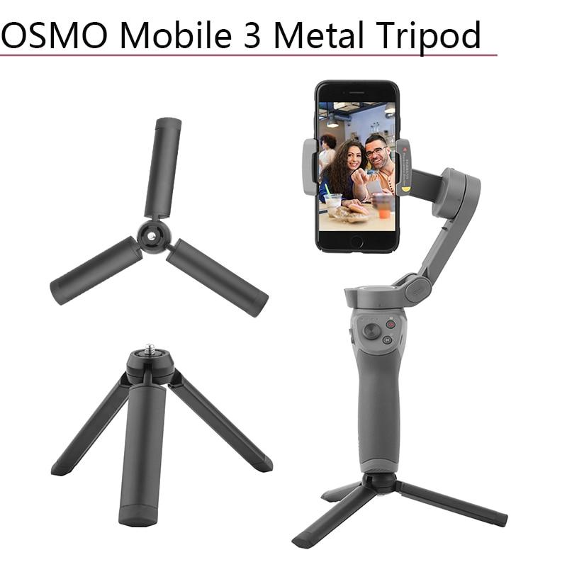 Metal Desktop Tripod Base Mount for DJI Osmo Mobile 3 Phone Stabilizer Holder Stand Handheld Gimbal Camera Accessories