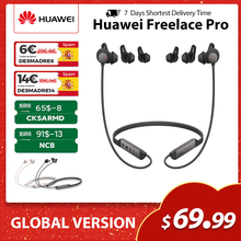 Bezprzewodowe słuchawki Huawei FreeLace Pro, oryginalne słuchawki douszne Bluetooth z podwójnym mikrofonem, 24 godziny