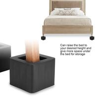 4Pcs/Set Furniture Leg Risers PP Plastic Non Slip Riser For Table Chair Desk Bed Sofa Black Color Furniture Accessories Riser
