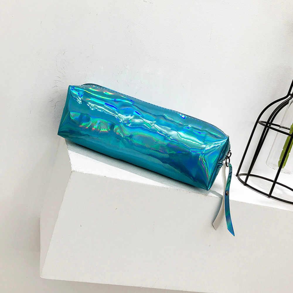 חמוד נצנצים קוסמטי תיק נסיעות מוצרי טואלטיקה תיק גדול קיבולת עור מטבע מקרה בית ספר עיפרון תיק ציוד תיק קוסמטי תיק