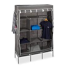 Wardrobe Cupboard Folding with 10 Large Compartments-Fabric Laundry And Camping .179x124-X-42