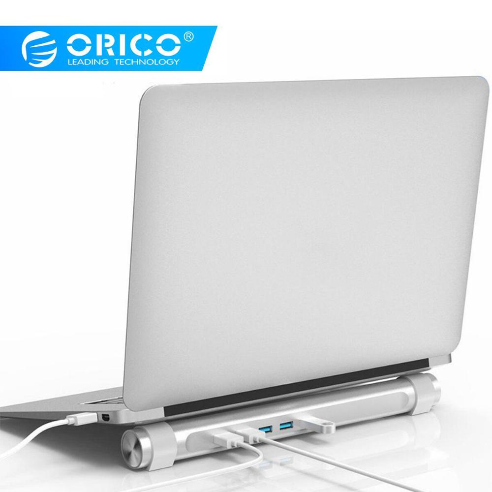 ORICO USB3.0 HUB With Notebook Holder Function ABS Round 4 Ports USB Adapter For Apple Laptop MAC Perfectly (M4U3-SV)
