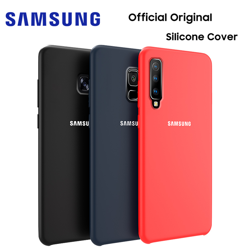 SAMSUNG A5 2017 coque d'origine officielle en Silicone souple Samsung Galaxy A3 A7 2017 A6 A7 A8 A9 Plus 2018 coque arrière