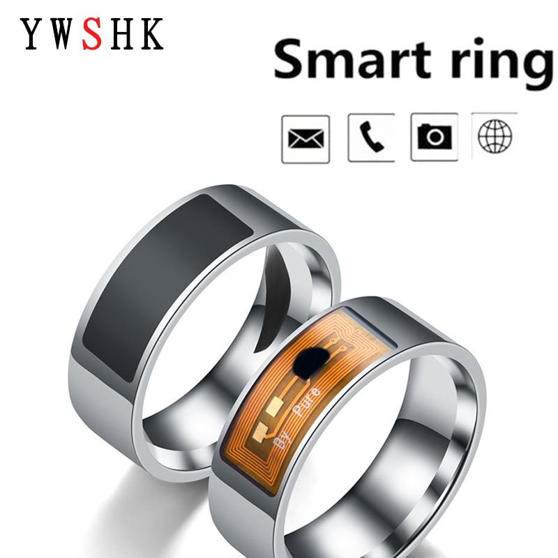 Модное кольцо из нержавеющей стали с NFC, подходит для телефонов Android, с функциональными парными украшениями