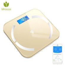 Bluetooth Scales Body-Weight Digital BMI Floor Bathroom Electronic Smart LED Backlit