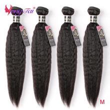 Yuyongtai-Hair Straight 4-Bundles No-Splits Kinky Natural-Color 8-30inch Ratio Medium