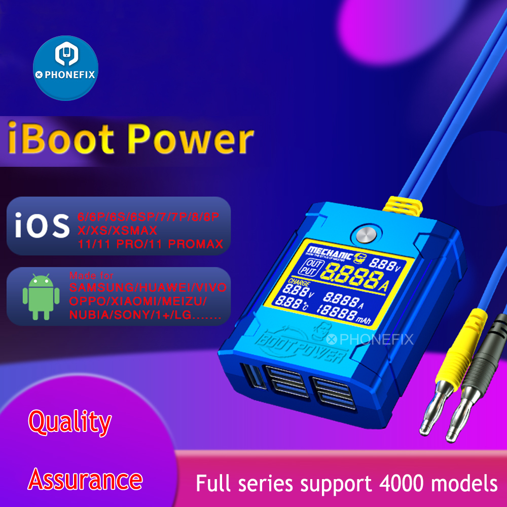 Mechanic iBoot Phone Test Power Supply Cable For iOS Android Mainboard Repair Power Boot Control Line for Huawei Xiaomi Samsung