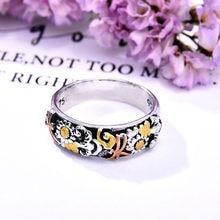 Vendita calda Retro moda classica fatta a mano libellula animale piccola margherita girasole anello anniversario regalo accessori femminili