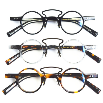 Acetate Glasses Frame Men Women Vintage Small Round Eye Glasses Optical Prescription Eyeglasses Frames Eyewear Spectacles Oculos acetate optical glasses frame men full retro vintage round circle prescription eyeglasses nerd women spectacles myopia eyewear