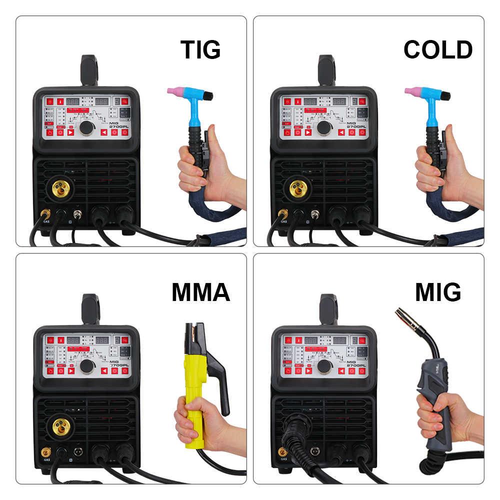 ANDELI MIGเชื่อมเครื่องMIG-270TPL 220V MIG/MAG/TIG/MMA/PULSE/เย็น 4 IN 1 เครื่องเชื่อมTIG MIGเครื่องเชื่อมTIGเครื่องเชื่อมDC TIG