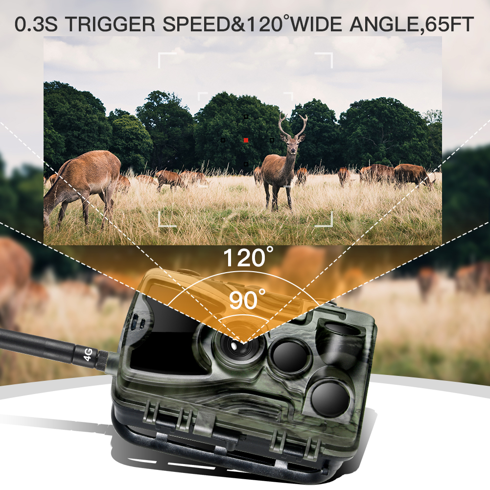 caça câmera 16mp 1080 p visão noturna