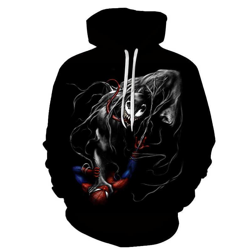 Neue männer hoodies Marvel serie 3D druck venom männer und frauen paare casual mit kapuze sweatshirt Mode wilde kapuze pullover