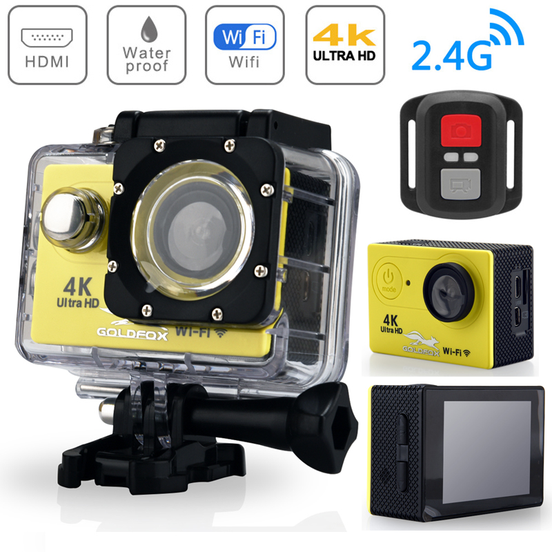 H9R Action Camera Ultra HD 4K WiFi 2.0 170D Underwater Waterproof Sports DV Bike Helmet 1080P Remote control Sport Video Camera image