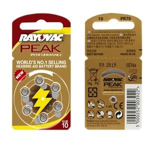 Image 5 - Pilas para audífonos, 60 uds./1 caja RAYOVAC PEAK A10/PR70/10, batería de aire de Zinc 1,45 V, diámetro de 5,8mm, grosor de 3,6mm