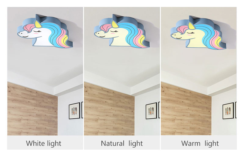 Hb3c6e6aedb304e65b0d309e97a16ff64t Unicorn kids room light led ceiling lights with remote control cartoon lampshade children room cute ceiling lamp deco child room