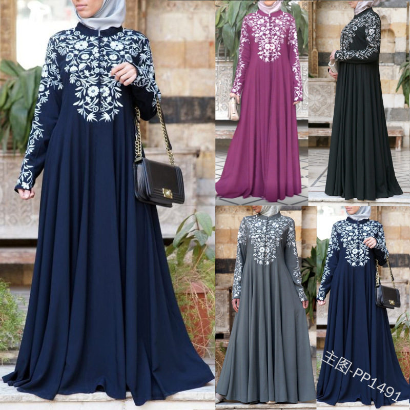 Women Islamic Clothing Abaya Arabic Muslim Hijab Long Dress Kaftan Caftan Robe Musulmane Longue Vestidos Dubai Jurk Maxi Dresses