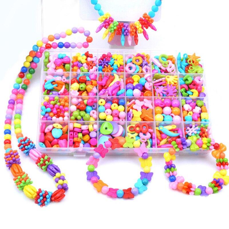 Girl'S Toy 24 Lattice Beaded Bracelet Educational Toy DIY Children Handmade Wear Effective 10-30 Yuan Weak Sight Training 3-12