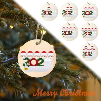 2020 ozdoby świąteczne ozdoby drewniane święty mikołaj choinka naturalnie drewniane ozdoby świąteczne wiszące ozdoby na choinkę tanie i dobre opinie CN (pochodzenie)