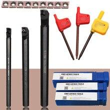 1 sztuk S07K SCLCR06 + 1 sztuk S10K SCLCR06 + 1 sztuk S12M SCLCR06 tokarka uchwyt na narzędzia tokarskie wytaczadło 7/10/12mm + 10 sztuk CCMT0602 wkładki