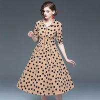 yellow polka dot flower girl dresses 2019 spring summer plus size maxi robe sexy oversized long casual bohemian dress