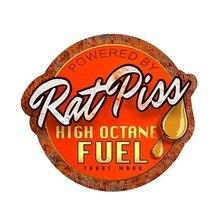 Hot Personality Rat Rod Rat Piss High Octane Fuel Decal Car Window Truck Door Bumper Motorcycle Helmet Decals Auto Decoration