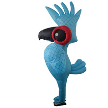Inflatable Rio Blue Parrot Costume Cartoon Animal Anime Cosplay Costume Parrot Clothes Adult Halloween Party Costumes цена