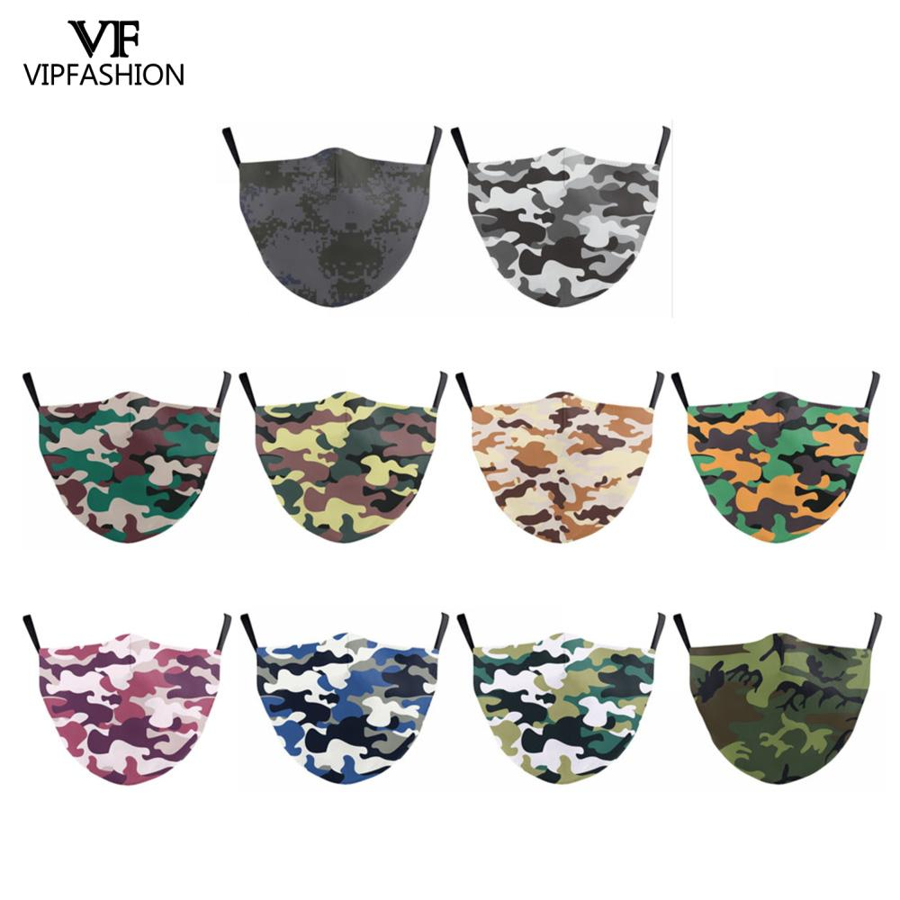 VIP FASHION Adult 3D Camouflage Printed Reusable Mouth Mask Washable Protective PM.25 Anti-dust Washable Moro Anti Flu Mask