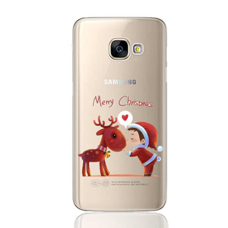 Silikon noel Fundas Samsung GalaxyA50 A20 A30 2019 A 20 30 50 2019 S10 artı Llite S 10 A7 a8 2018 A3 A5 2017 kılıf