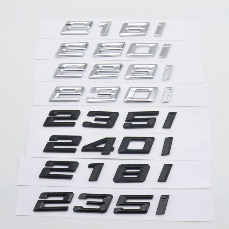 Автомобильные наклейки для BMW 2 серии F22 F45 F23 2018-2021, буква на задний багажник, эмблема, логотип, наклейки 218i 220i 228i 230i 235i 240i