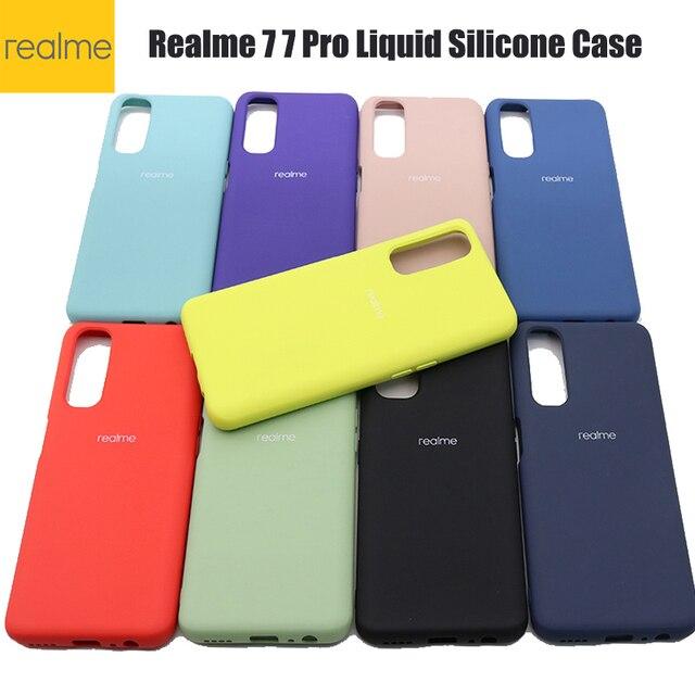 Realme 7 7プロケース耐震バンパーケース液状シリコーン電話ケースoppo realme 7 realmy realmi 7pro realme 7 7プロ