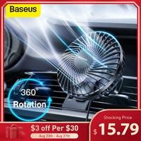 Baseus Auto Luftkühler Fan Stille Auto Klimaanlage 360 Grad Rotierenden Lüfter Auto Rücksitz Air Vent USB Kühlung fan