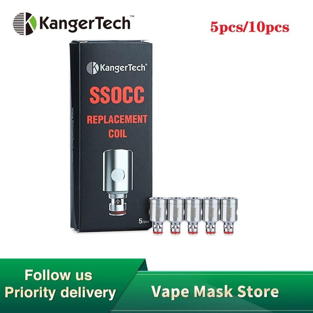 5pcs E-Cig Kanger SSOCC Coil For Kanger Subox Mini-C Kit & Subtank/TopTank/Nebox/ SUBVOD Tank 0.15ohm/0.5ohm/0.2ohm/SS 0.5ohm