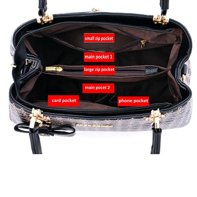 Image 4 - Beautifully bow bag crossbody women shoulder bag handbag Key  decoration Geometric pattern luxury plaid bag women leather  handbagShoulder Bags