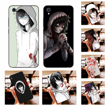 NBDRUICAI Jeff the killer Horror Animation DIY Painted Bling Phone Case For Vivo Y91c Y17 Y51 Y67 Y55 Y93 Y81S Y19 Y7S Case(China)