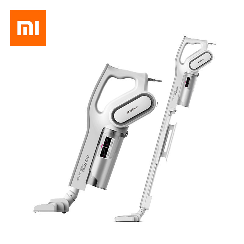 Original Xiaomi Mijia Deerma Mini Hand Held Vacuum Cleaner Household Strength Dust Collector Home Aspirator Dx700 image