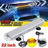 22 114W LED 12V 24V Truck Car Strobe Light Light Bar Led Bar Flashing Beacon Light Roof Emergency Warning Lamps 16 Modes