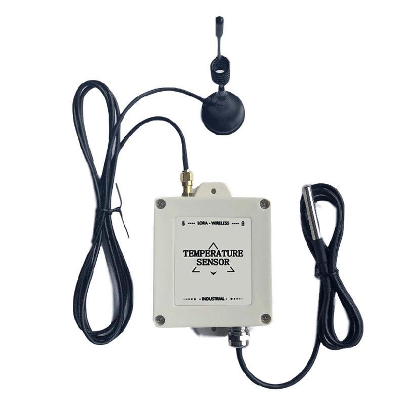5km LOS range lora temperature sensor wireless ds 18b20 temperature sensor probe wireless temperature data logger-in Fixed Wireless Terminals from Cellphones & Telecommunications