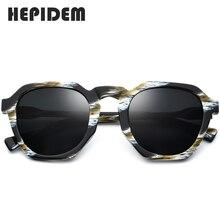 HEPIDEM Acetate แว่นตากันแดด Polarized ผู้หญิง 2019 ใหม่ VINTAGE Retro รอบดวงอาทิตย์แว่นตาผู้หญิงการออกแบบแบรนด์ขนาดใหญ่แว่นตากันแดด