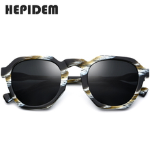 HEPIDEM Acetate Polarized Sunglasses Women 2019 New Vintage Retro Round Sun Glasses for Women Brand Design Big Oversize Sunglass