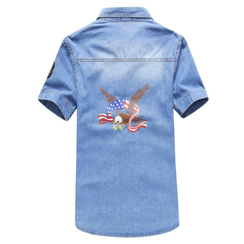 2018 Men New Style Denim Shirt Spring And Summer New Style Korean-style Denim Shirt Men's Short-sleeved Shirt W-g31-et05