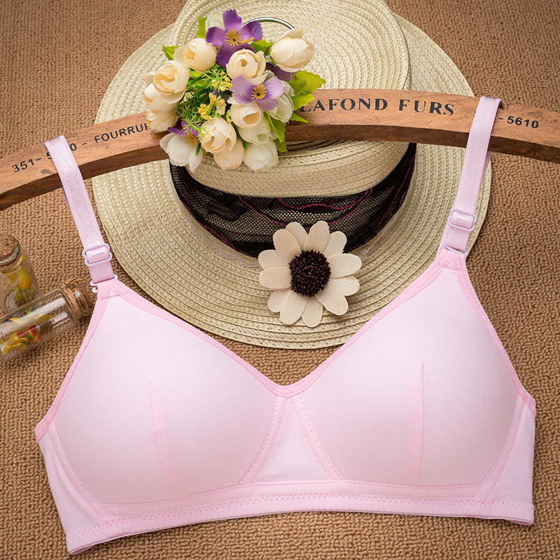 new delivery Young Girl thin Bar Teenagers Children in Students Puberty cotton underware wholesales without steelring solid 6
