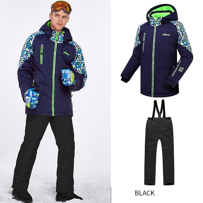 2019 hiver Ski costume pour hommes vestes à capuche salopette chaud mâle Ski ensembles Sports de plein air neige vêtements snowboard vêtements